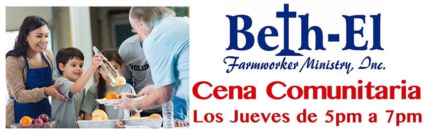 Cena Communitaria, Los Jueves de 5pm a 7pm